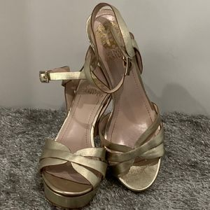 Vince Camuto Gold Heeled Sandals